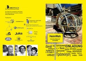 Einladung Eröffnung Projekt HeimWeh